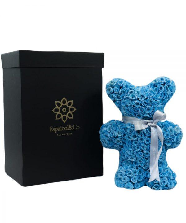 oso azul caja