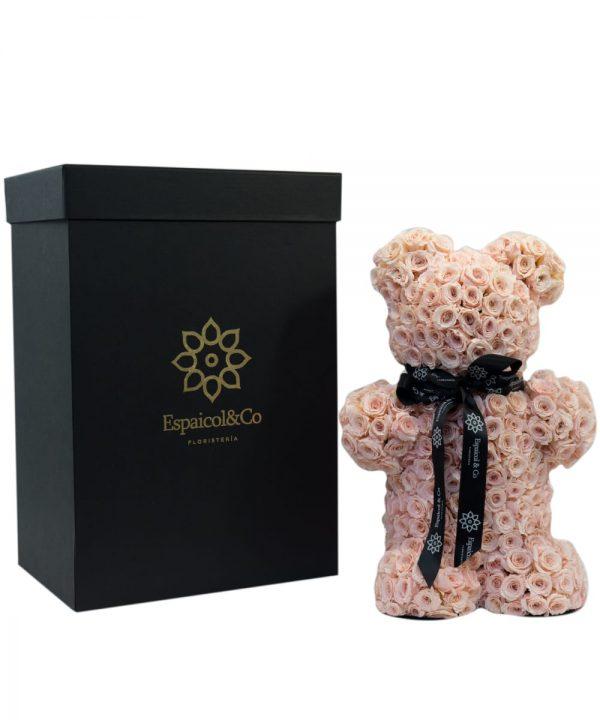 oso rosa caja